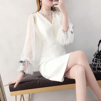 点像(DIANXIANG)のワンピース2019 NEWの女性服の春の服装はとても仙々としているフランスの大衆の二点セットの気質の媛小香風のスカートの色S。