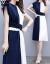 アヒルのアヒルの服(yayaya)のワンピース2019春夏新品の女装セクシーショッツァーレースの中の長めの2つのセットの上着Tシャツの女性の個性的なプリントのスカートのセットの写真色3 XL【おすすめ130-140斤】
