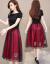 ワンピースの女性2019夏の新商品の女性服は優雅です。韓国版のタト顕の細い紗ネットの大きいサイズの女性服の中に長いサイズのNEWのファッションスカートの女性緑色L。
