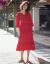 ヨニ糸2019復古レースビーチスカート女性夏NEWビーチリゾートワンピースやせ色のロングスカト1907赤いS