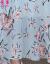 チョウコクの半袖ワンピースプリント2019夏服NEWファッションVネックがスリムに見えるチョウコク