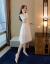 Howorleaseジルコールワンピース夏2019春の新作女装ファッションプリントレースワンピース女性ローリングスカウトホワイトM(95-105斤を推奨)
