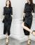 絢秀半袖ワンピース2019春夏新作女装ビッグサイズ韓国版タイトが見せている痩せセクシーレースジゼルA字はウエストに偽の2つのファッションスーツのスカート画像色S