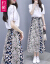 約薇2019春夏新作婦人服ジゼルワンピースセット女性半袖に見える細いプリント刺繍のミニチュア中に長い夏のスカート2点セットyw 020写真色L