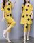 ジチョーゼットのワンピース夏2019新品のビッグサイズの婦人服二つのスーツのスカート韓国版テートが痩せて見える中、長いセクシーなスタイルの婦人服のスカート画像色L
