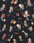 MOCO夏季小花不規則スカートワピー172 DRS 117モザイク黒下のカラーL