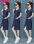 艾茉帝亚デニムワンピース女性夏服2019新品韓国版はゆったりしていて、細く見える継ぎ目レースの中の長いスタイルのスカートは湿っているレースの襟Mです。