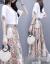スニのワンピス2019春夏新作女装韩国版2点セクトの中に长めの刺繡と半袖の小花フューシショッ品质レデューレットレットレットレットレットレットのスカウト100ピンク--6690 XL
