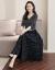 ザ族ワンピースレース2019春夏の女装新商品韓国版気質小香騒動点シャワンピス子供セットスカート黒3 XL