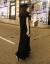 RUMONICA香港ファッションブランド黒半袖ローンガートート女夏莫代尔韓国ポケットA字超ロングタイプ、ゆったりワンピース黒S-小サイズ
