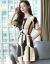 一間のワンピースの夏ジゼル2019半袖新品韓国版は腰が細く見える中、長めのA字の半身のスカート画像色Sを収めています。80-95斤の服を着ることをお勧めします。