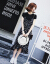 モーダルワンピース半袖2019夏NEW女装韓国版百合テート小清新ファッションTシャツ女性+中長項吊りスカート二つセットスカート画像色M