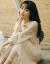 オリジナルデザイナーブランドのトレンドブランドの婦人服2019年春の服装は優しくて、仙女のスカート初恋のフランス式レトロで、爽やかなボトムレースのワンピースタイトロンカートアンズ色の定番モデルM