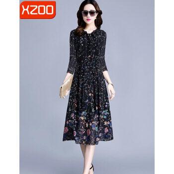 XZOO長袖ワンピース女装新品2019春夏NEWショルゼルウエストタイプスカウト黒L【小さいので、大きいサイズを買うことをお勧めします。】
