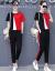 詩水涵ワンピースセット女性2019春夏NEW韓国版ファッション学生スポーツカージュ・レディースタワーの2つのスーツのスカートの女性赤M【80-95斤を提案する】