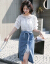 北極絨ワンピース半袖2019夏NEW婦人服ショルゼルには様々なファッションセンスがあります。エレガントなシャツのTシャツは女性と上半身のスカートのセット画像色Mです。