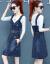 ワンピスの女性2019夏の新商品の女性服が優雅でファンシーです。韩国版のサウンドトラック。ファンシーの中でローリングNEWはドレンドのデニムストに似ています。