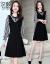 XIYANワンピース2019春夏服新品の女装スタイル小柄で大きいサイズのタウトが痩せている中、長袖スカートHF-203 A 3020黒XL