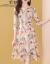 茉魅ワンピースセット女性2019夏の女装NEW 7分袖ファッションビッグサイズがやせて見える洋風ショルゼルがスリムに見える中、長めのスタイルがウエストa字スカートの画像色Sです。