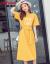 欧芙倫のワンピース2019春夏の女装NEWファッション的でゆったりした丸首の字母プリントの中の長めのTシャツのスカートの6076黄色S