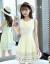 蒋さんは2019夏の新品ジゼル半袖ワンピース女性韓国版タウトファッションの刺繍が甘い小柄な長身スカート丸首プリント台型スカッシュ(125-135適当)