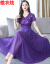 ツンディワンピル2019夏NEW婦人服刺繡半袖エミレレレ·ションシー·サドリゾードVマウスマウス