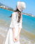 知語者チョーゼットワンピース女子中ロングモデル2019春夏NEW婦人服韓版五分袖レース白気質痩せスカートL 508写真色M