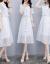 ワンピースの女性2019夏の新商品の女装が優雅でファッション的です。韓国版のテートが見せています。ショルゼル気質ファッションの中でロングサイズのNEWパーフェクトスカートです。