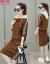 初暗記の中で長いサイズのワンピースのスーツの女性2019年冬NEW韓国版の女性服のテートの長袖は下のスカートのキャラメルMを打ちます。