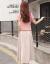 北极绒ワンピス女性2019春夏NEW韩国版ファン绵麻半袖の中の长いA字は腰の大きいサズの妇人服の2つのストラックトラックSZ 608粉の服の米のスカウトを収录します。