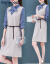歌ノ瑞糸长袖ワンピース2019春新作女装気质カジュアルゆったりしていて痩せた淑女がビッグサイズを合わせてお腹を隠します。