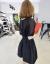 韩采西2019夏新品ヨーロッパ駅黒スカート韩版気质カジュアルワンピース1559黒XL(おすすめ115-130斤)