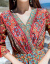 丹徳蘭潮牌2019 NEW夏服タイシュレッツェル民族風ワンピース女性ビーチリゾートビーチスカートボヘミアンローリングスカー赤いシュレッツェル