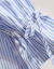 xzooワンピース2019春夏新作婦人服韓国版半袖ワンピースシャツ半身スカート2つセットのスカートの大サイズのスカートの中で袖の青い条+青いスカートS(95斤以内を推奨します)