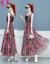 芳帛ワンピースセット女性夏2019 NEWファッション気質ガータートップス+チョーゼット女性ファッションレッドM