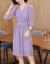 XZOOジュジュのワンピース女子夏2019春NEWビッグサイズの女装韓国版の甘い淑女の中の長めのタイトスカート紫M(95-105斤を推奨)
