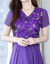 ツンデレワンピースジゼル2019夏NEW婦人服刺繍半袖エミュレーションシーサイドリゾートVネックビッグボジアビーチローンガーA 352ピクチャーカラーL