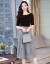 シングルの蜜の半袖のワンピースの中で長いスタイルの婦人服2019春夏NEW韓国版フランスの小众テートの2つのスーツのスカートの上着+スカートM