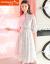 赤いトンボのワンピース女性2019春夏NEW女装韓国版ファッション長袖女装A字プリントTシャツ底の中の長いタイプのロングスカーセット女性写真色M