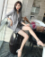 Vekee'sワンピース2019春夏NEWショートジャケット女性2点セットファッションスーツのカジュアルショートパンツ韓国版大サイズ女装小スーツピンクS