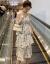 慕绮莎ジゼルワンピース女性2019春夏NEW女装中长款吊带女孩ワンピースv襟ロンカートテテテ