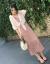 KUFANXI香港ファッションブランド2019夏NEWins超火ビーチスカート女性セット休暇中に膝のローリングカートストラップを収めて、ウエストが見えるスリムなワンピースを二点セットのピンクのスーツ(サスペンダー+上着XL