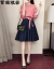 ワンピース2019春夏服NEW女性新商品の中に、長い女装の格子のセクシーな二点セットの女性スーツのスカート9-401-021図色M