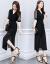 ドリームブルーチョーゼットのワンピース2019春NEW韓国版ファッションビッグサイズの女装プリントが収められています。ウエストが細く見えるスーツのスカートの中にはロングタートルネックレースのスカートがあります。二つのセットはカラー2 XLです。