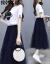 韩国の女性の回廊の2019夏の新型の流行のスカートの网の纱a字のスカートのスウィートの半袖Tの2つのセクトの1580ピクターの色L(100-110斤を提案します)を探ってみます。