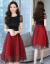 七色のワンピース女子2019夏服NEWの女装の中の長めのa字のスカートの韓国版は腰ジゼルのレースのワンピースの赤色Lを収めます。