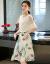 香菲ti拉ワンピース2019夏洋風スタイル女装ファッションが優雅で痩せ長袖チョーゼットのしゃれたシャツにレースの半身スカートの春先の二点セットの写真色XL