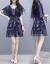 レースワンピース2019春夏新品NEW大コード女装韓国版ファッションタウトセクシー2点セットファッションスーツスカートの中の長めのワンピース画像色M