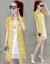 絢秀ワンピース2019春夏新作女装ビッグサイズ韓国版の中には、ゆったりとしたスタイルのタウトセクシーなレースの網糸ジゼルセット半袖プリントファッションスーツのスカート2点セットのスカート画像色S