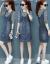 宝伊莲のワンピース2019春の服装NEW春秋の2つのスーツは底の中に中长のジーパンのワンピースのストライプをかけます。